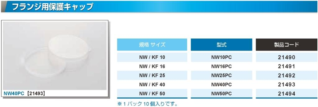 NW/KF  フランジ用保護キャップ カタログ画像