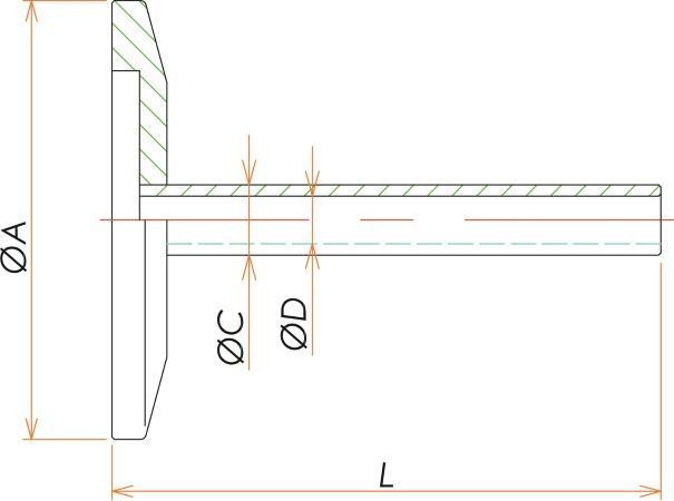 NW40+1/16インチチューブアダプタ 寸法画像