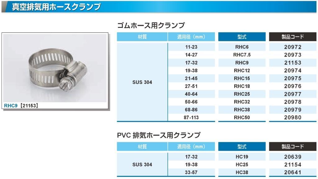 RH15用 SUS304ホースクランプ カタログ画像