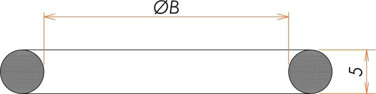 NW16 Oリング ニトリル 寸法画像
