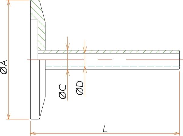 NW16+1/4インチ チューブアダプタ 寸法画像