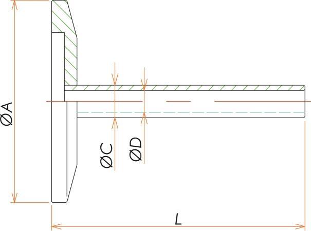 NW50+1/4インチ チューブアダプタ 寸法画像