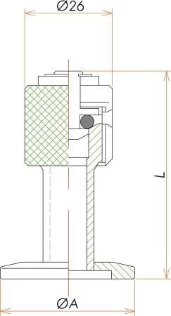 NW25 リークポート(リークバルブ) 寸法画像