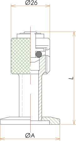 NW40 リークポート(リークバルブ) 寸法画像