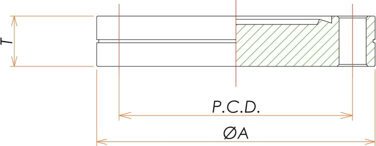 ICF34 固定ブランクフランジ 寸法画像