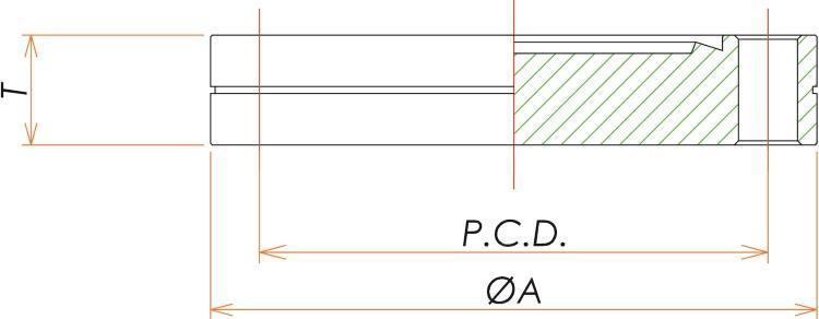 ICF305 固定ブランクフランジ 寸法画像