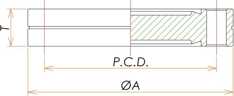 ICF34 固定両面エッジブランクフランジ 寸法画像