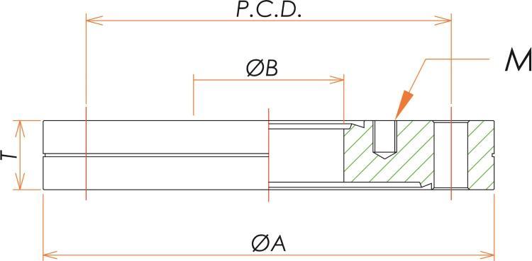 ICF203/70 ゼロレングス変換フランジ 寸法画像