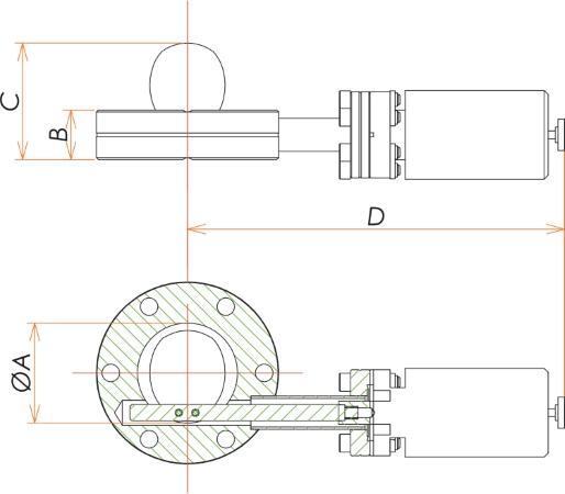 ICF203VPS交換用シャッター 寸法画像
