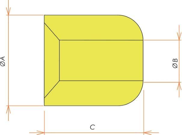 接続部品 セラミックビーズ O.D. 3.2/I.D. 1.4 用 寸法画像