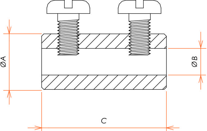 接続部品 真空側 ソケットコンタクト φ3.4 用 バレルタイプ 10本入 寸法画像