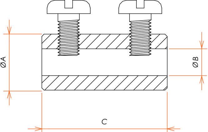 接続部品 真空側 ソケットコンタクト φ6.4 用 バレルタイプ 10本入 寸法画像