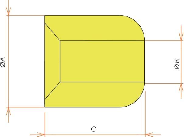 接続部品 セラミックビーズ O.D. 8.2/I.D. 3.6 用 寸法画像