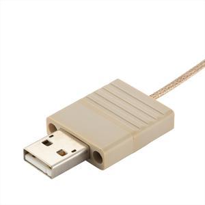 接続部品 真空側 カプトンケーブル付き 両側USB2.0 PEEK® インサート L=1000