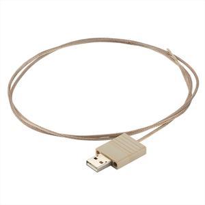 接続部品 真空側 カプトンケーブル付き 片側USB2.0 PEEK® インサート L=1000