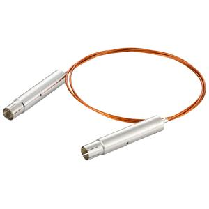 接続部品 真空側 両側 SHV-10kVプラグ付き カプトン被覆ケーブル L=1000