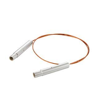 接続部品 真空側 両側 SHV-20kVプラグ付き カプトン被覆ケーブル L=1000