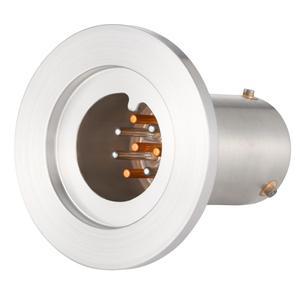 T熱電対 BURNDY 4対 NW/KF25 フランジ ガイド付き