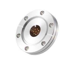 K熱電対 BURNDY 2対 電流導入端子4PIN ICF70 フランジ ガイド付き