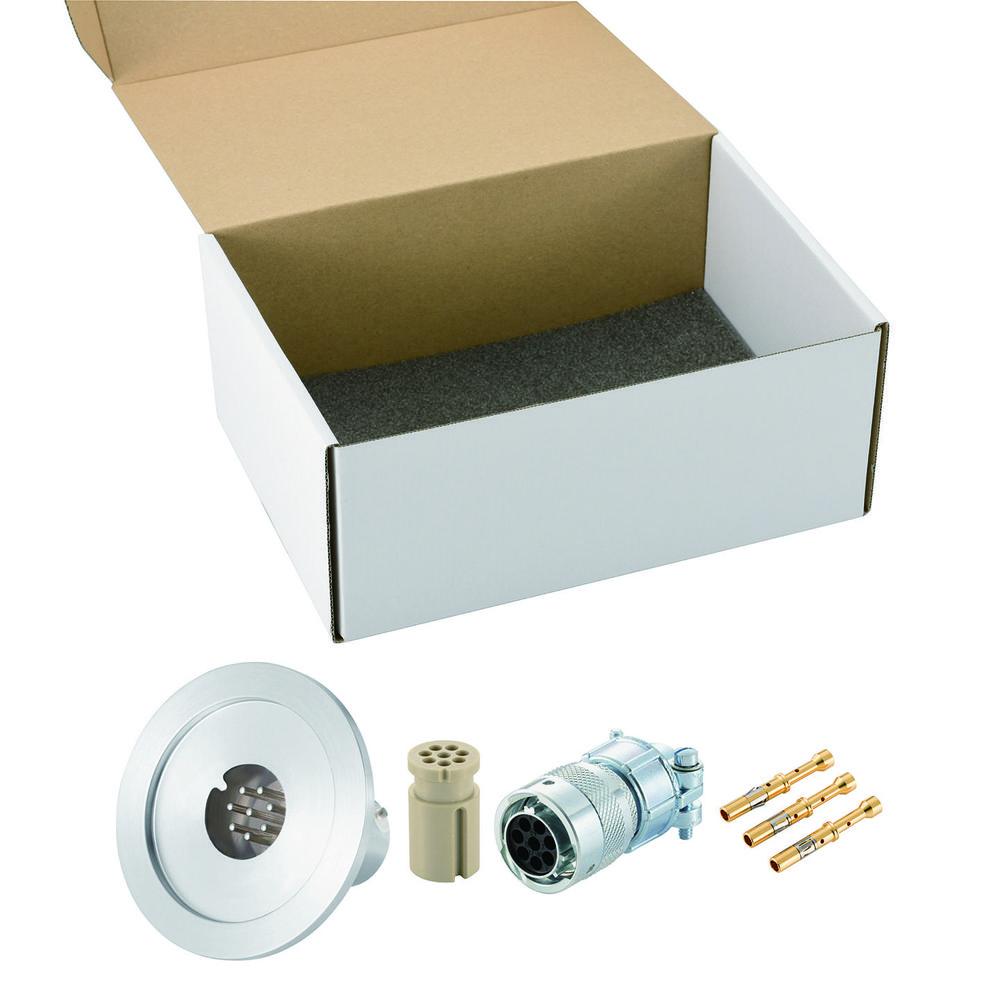 多ピン BURNDY 高電流 8 PIN NW/KF40 フランジ ガイド付き セット(耐熱温度250℃)