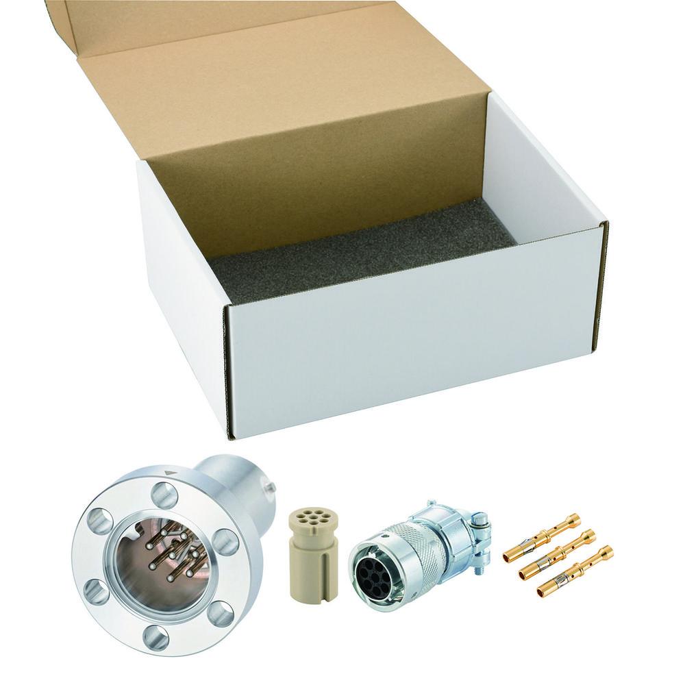 多ピン BURNDY 高電流 8 PIN ICF34 フランジ ガイド付き セット(耐熱温度250℃)