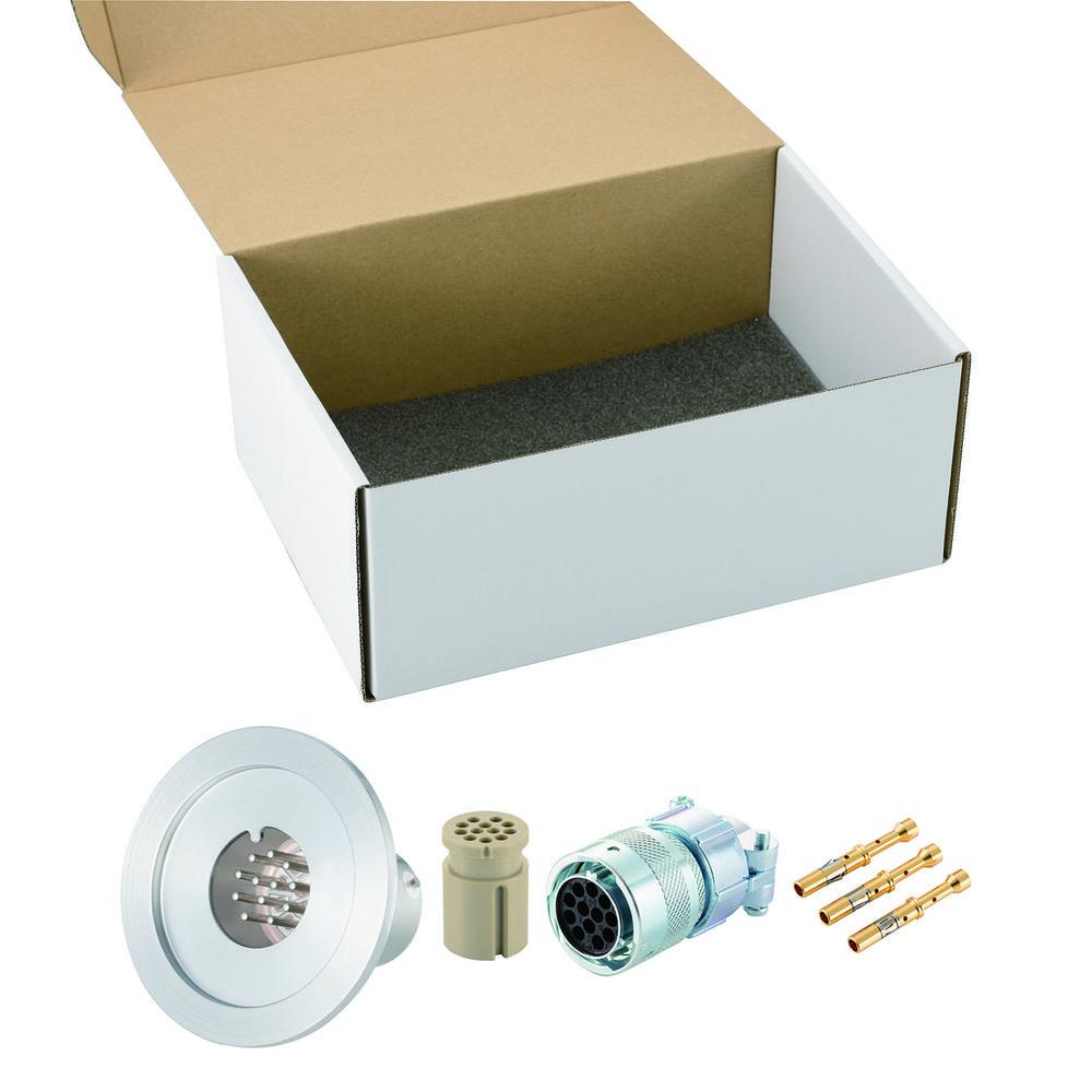 多ピン BURNDY 高電流 12 PIN NW/KF40 フランジ ガイド付き セット(耐熱温度250℃)