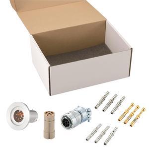K熱電対 BURNDY 2対 電流導入端子4PIN NW40 フランジ ガイド付き セット