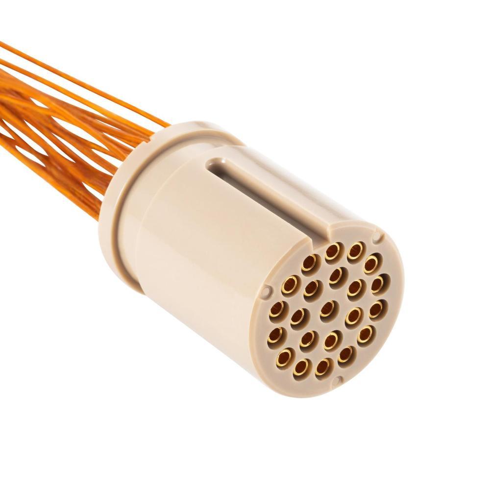 接続部品 真空側 インサート+カプトン被覆ケーブル付 BURNDY® 22PIN L=1000
