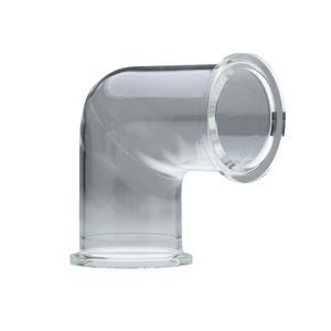 NW/KF ガラスエルボ 溶融石英