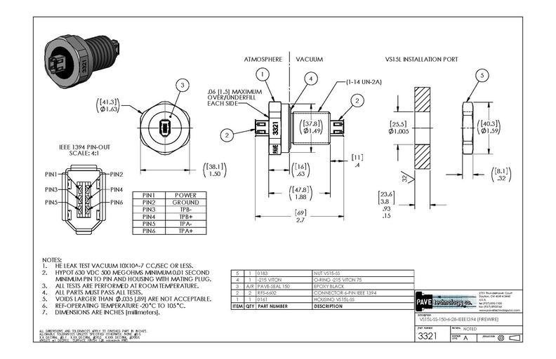 IEEE1394コネクタ#3321 寸法画像