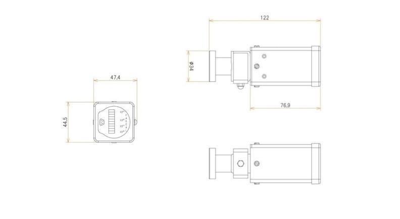 ICF34付 1 L/s MODION® イオンポンプセット 寸法画像