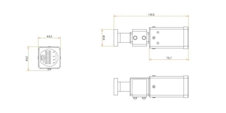 ICF34付 3 L/s MODION® Quadイオンポンプセット 寸法画像