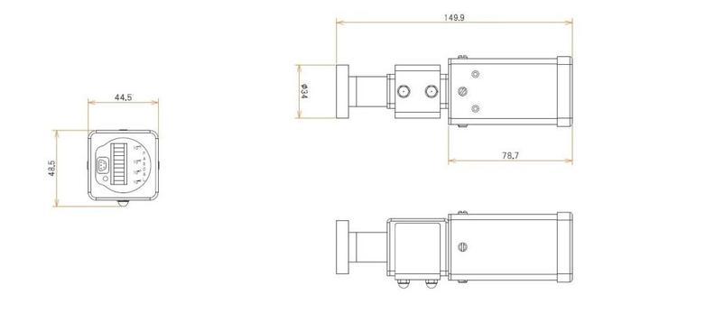ICF34付 3 L/s MODION® イオンポンプセット(長寿命) 寸法画像