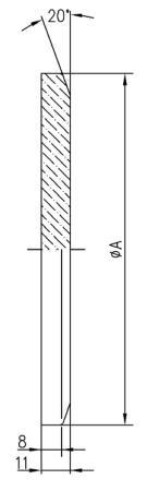 32.100008.224.810 Blank Flange NW100 溶融石英 光学用 寸法画像