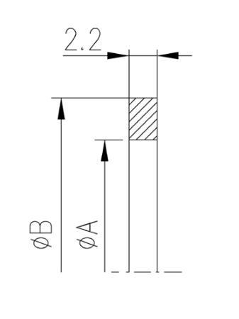 34.025068.663.602 Metal Seal NW25 ニッケル 寸法画像