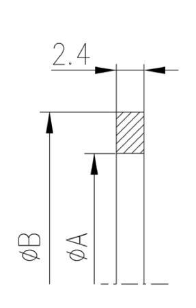 34.250068.563.625 Metal Seal NW250 ニッケル 寸法画像