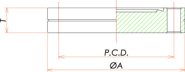 ICF117 固定ブランクフランジ 寸法画像