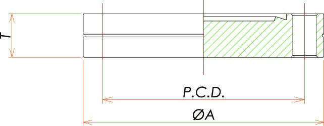 ICF54 固定ブランクフランジ 寸法画像