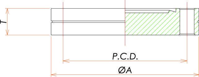 ICF54 固定ブランクタップフランジ 寸法画像