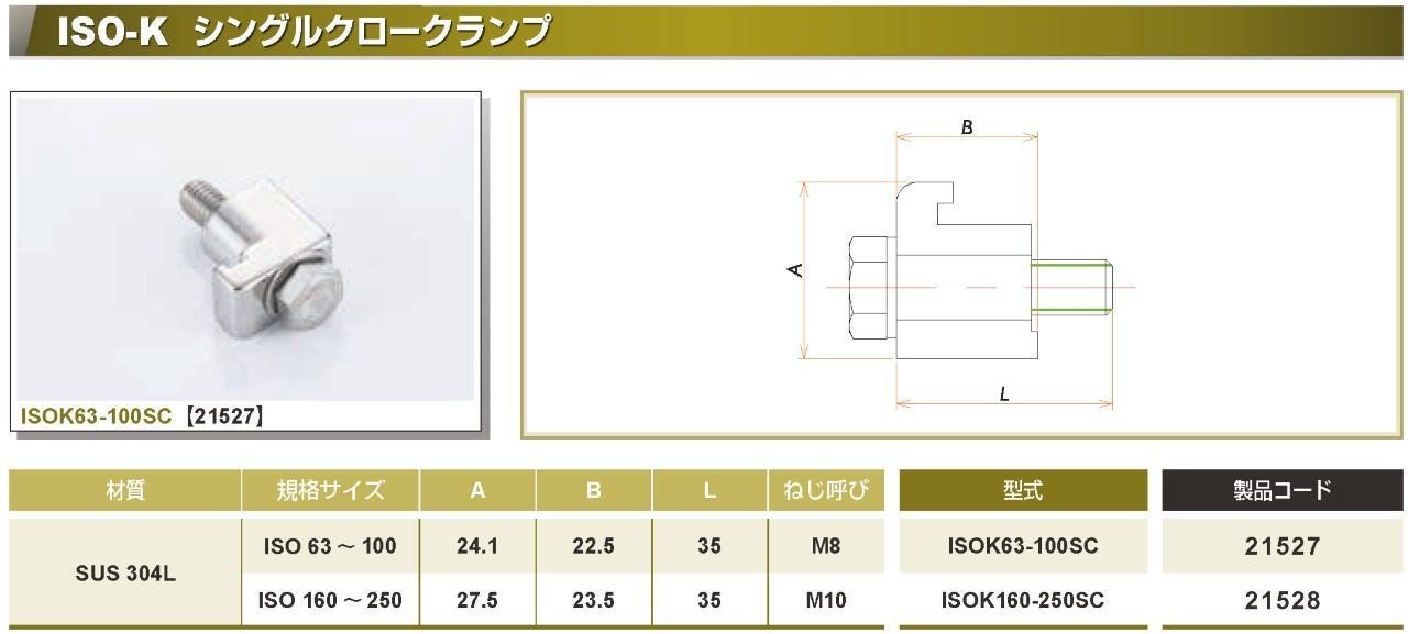 ISO®-K シングルクロークランプ カタログ画像