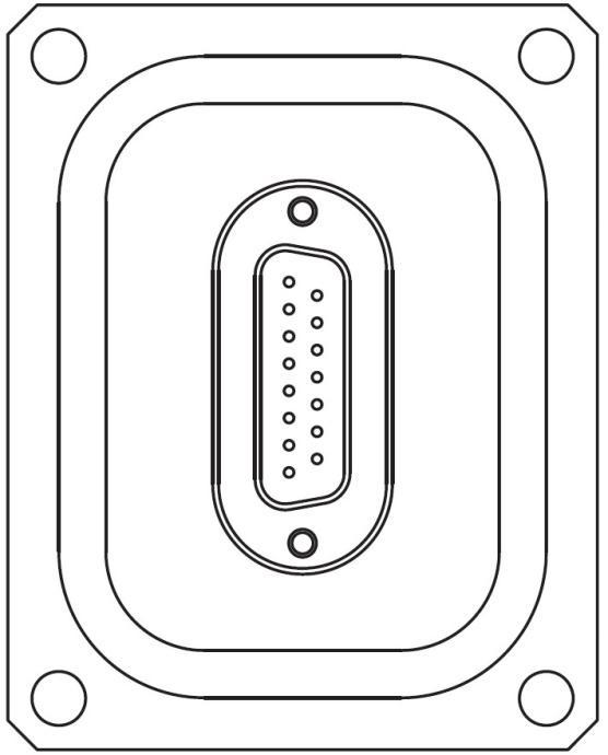 多ピン D-Sub 15 PIN 75X59 パネルマウント 寸法画像