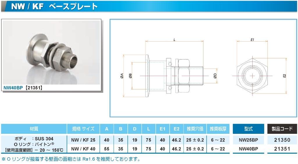 NW40ベースプレート型フランジ カタログ画像
