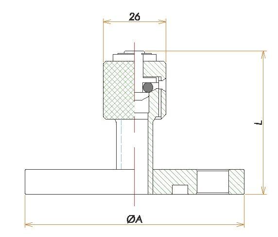 VG25 リークポート 寸法画像